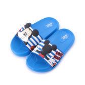 DISNEY 米奇套式拖鞋 藍 中大童鞋 鞋全家福