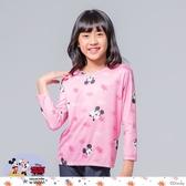 【WIWI】星辰米奇溫灸刷毛圓領發熱衣(粉桃色 童100-150)
