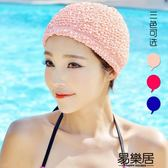 泳帽韓國時尚女士布游泳帽
