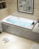 亞克力浴缸 嵌入式浴缸家用成人歐式浴盆迷你小浴缸浴池1.2M-1.8米【免運】