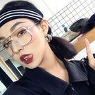 軟妹自拍嘻哈潮透明裝飾眼鏡框架配鏡光學架【八五折免運直出】