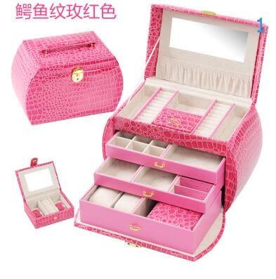 首飾盒大歐式韓國公主飾品收納盒木質珠寶盒化妝品收納盒帶鎖
