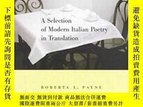 二手書博民逛書店A罕見Selection Of Modern Italian Poetry In Translation-意大利現
