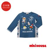 MIKI HOUSE 日本製 銀河星際刺繡長袖上衣(藏藍)