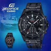 CASIO 卡西歐手錶專賣店 國隆 EDIFICE EFV-540DC-1A 三眼計時賽車男錶 不鏽鋼 黑色錶面 防水100米 EFV-540DC