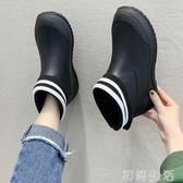 德系雨鞋女短筒雨靴保暖加絨防水鞋男水靴低幫防滑廚房買菜釣漁鞋 初語生活