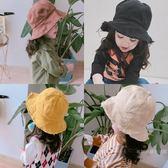 親子毛邊布藝兒童韓製女童帽子女寶寶漁夫帽遮陽帽潮盆帽 【快速出貨八五折鉅惠】