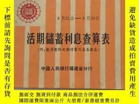 二手書博民逛書店罕見活期儲蓄利息查算表Y2508 中國人民銀行 中國人民銀行