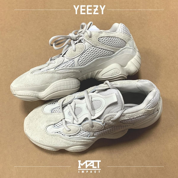 "IMPACT Adidas Yeezy 500 ""Blush"" OG 灰 米白 復古 老爹鞋 DB2908"