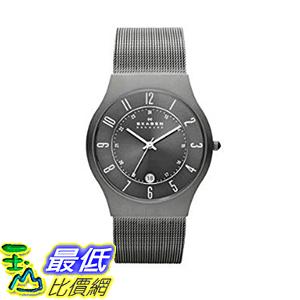[美國直購] Skagen Watches, Men s 男士手錶 Titanium 233XLTTM Grey Mesh Titanium Watch