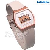 CASIO卡西歐 運動休閒風格設計 電子錶 LW-204-4A 橡膠錶帶 學生錶 LW-204-4ADF 裸x玫瑰金