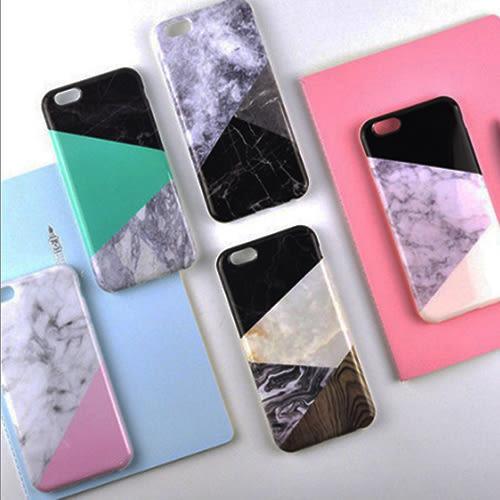 數位風潮 簡約拼色大理石磨砂手機殼 蘋果 iphone7 6s plus 軟殼 韓國 流行 大理石 石紋 矽膠 半包