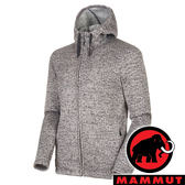 【MAMMUT 長毛象】男 Chamuera 刷毛連帽外套『鯊魚灰』1014-01360 戶外 露營 登山 外套 冬季 保暖 禦寒