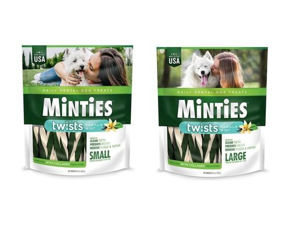 ◆MIX米克斯◆MiNTiES 猛特斯 【美國原裝進口】 白綠雙效低脂潔牙骨 L-12oz (14入) / S-12oz (28入)