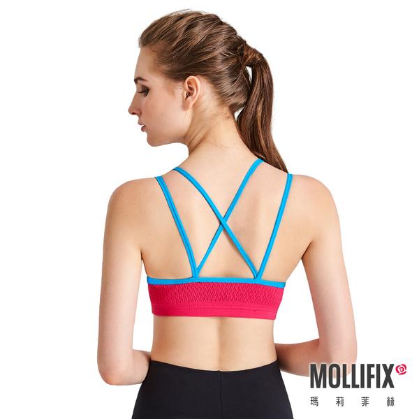 Mollifix瑪莉菲絲 高調A++溝溝立現美胸BRA (撞色桃+藍)