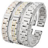 錶帶鋼帶男女不銹鋼錶鍊蝴蝶扣代用浪琴天梭卡西歐天王西鐵城錶帶 三角衣櫃