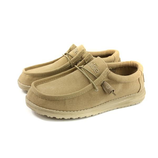Hey Dude 休閒鞋 帆船鞋 帆布 卡其色 男鞋 HD2031-846 no016