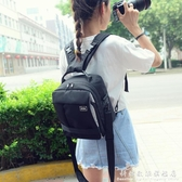 小型雙肩攝影包佳能單眼相機包5D2 700D 760D80D尼康單反背包男女 科炫數位