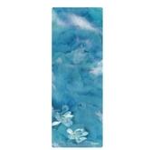 微瑕疵品超薄可折疊1mm瑜伽墊天然橡膠印花防滑墊鋪巾  YXS  【快速出貨】
