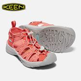 [好也戶外] KEEN Whisper女款專業護指涼鞋 淺橘印花 No.1018230