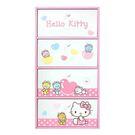 【震撼精品百貨】Hello Kitty 凱蒂貓~HELLO KITTY小熊直式四抽收納盒-粉紅#38562