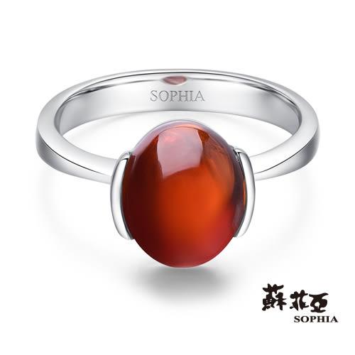 蘇菲亞SOPHIA - 玩美寶石系列 紅碧璽橢圓形寶石戒指