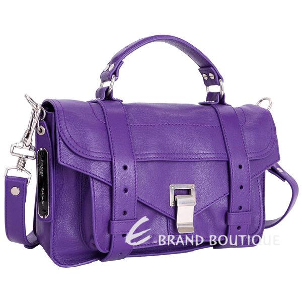 PROENZA SCHOULER PS1 Tiny 山羊皮革兩用包(小/紫色) 1440281-04