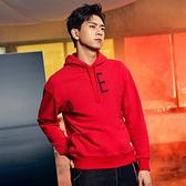 Levis Red 工裝手稿風復刻再造 男款 重磅口袋帽T / 寬鬆休閒版型 / 熱帶紅