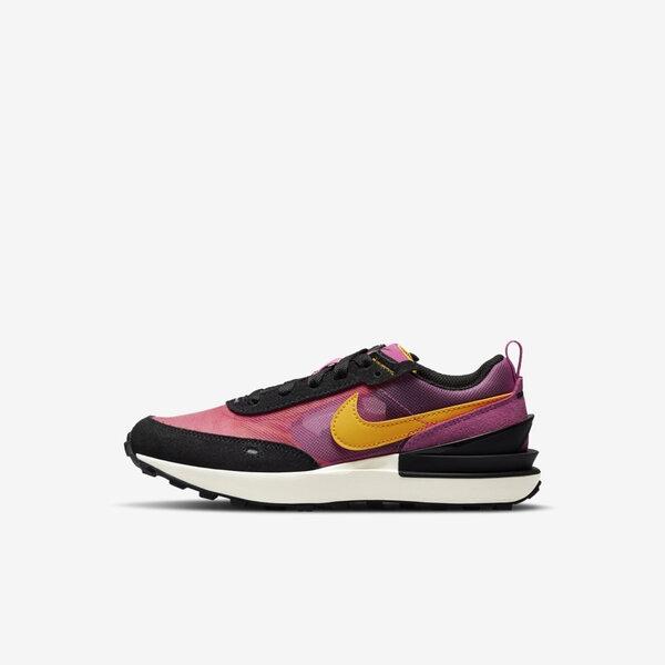 Nike Waffle One Ps [DC0480-600] 大童鞋 運動 休閒 柔軟 舒適 緩震 保護 桃紅 黃