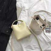 包包女2021新款潮時尚手提水桶包法國小眾高級感百搭ins斜背包 設計師