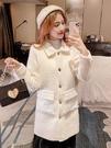 長版大衣 毛呢大衣裝秋冬裝2020年新款流行毛絨中長款寬松長袖外套女潮