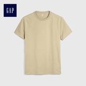 Gap男裝 全棉舒適純色圓領T恤 229755-駝色