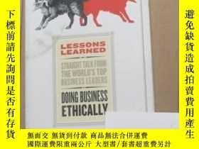 二手書博民逛書店Lessons罕見Learned: Doing Business