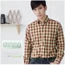 【大盤大】OVVIO 男 長袖 格紋襯衫 50號 格子 薄長袖 薄款 百貨專櫃 辦公室 商務 聖誕節送禮
