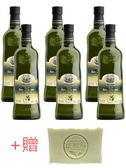 [Vanessa釩妮莎]義大利聖卓天然無毒頂級冷壓初榨橄欖油(ICEA天然無毒認證)750mlx6