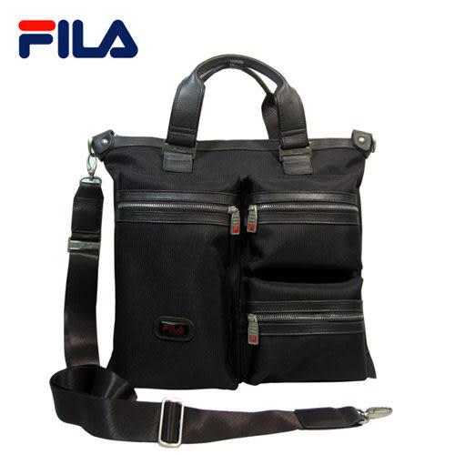 【FILA】時尚流行手提側背兩用包 FA-112(黑)