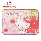日本限定 三麗鷗 HELLO KITTY 凱蒂貓 蘋果版  丸真系列 毛毯