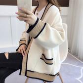 慵懶風初秋毛衣女秋裝2020新款韓版寬鬆秋冬外穿針織衫女開衫外套