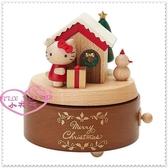 小花花日本精品♥ Hello Kitty♥ 木製立體造型 音樂盒療癒小物 聖誕雪人 聖誕禮物67891108