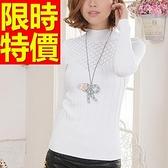 高領毛衣-美麗諾羊毛麟紋線條顯瘦女針織衫6色62z21【巴黎精品】