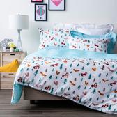哈囉松鼠防蟎抗菌天絲床被組 三件組 單人