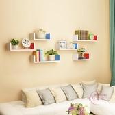 牆上置物架客廳牆壁掛牆面隔板擱臥室多層書架免打孔簡約現代裝飾xw 【快速出貨】