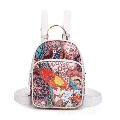 現貨 愛迪達 迷你後背包 Adidas 三葉草 雙肩包 女包 背包 迷你小包 pu皮革包 手提包/澤米