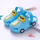 洞洞鞋 兒童拖鞋夏季新款男童卡通小汽車寶寶涼拖小孩室內防滑女童洞洞鞋 歐歐