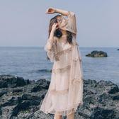 初戀裙仙飄逸sokul少女網紗波點兩件套拼接蕾絲刺繡連身裙【卡米優品】