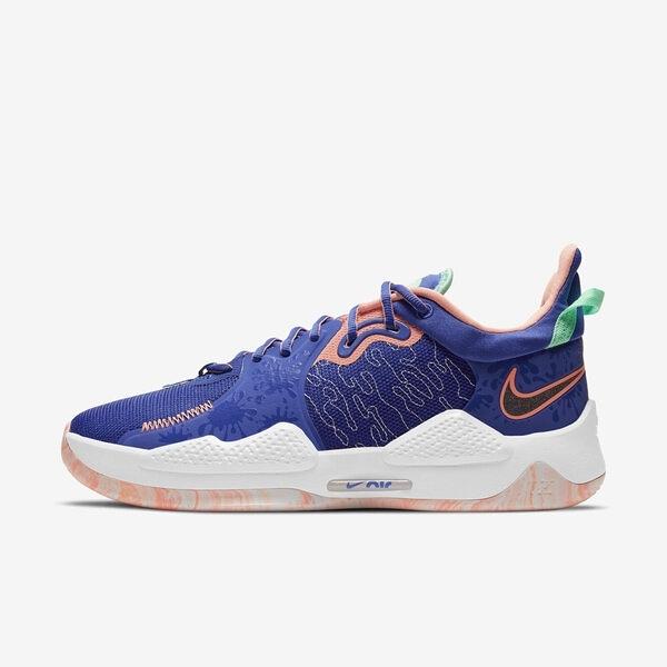 Nike Pg 5 Ep [CW3146-400] 男鞋 籃球鞋 運動休閒 緩震 柔軟 彈力 貼合 舒適 抓地力 藍 橘
