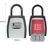 裝修密碼鑰匙盒貓眼壁掛式臨時工地施工放鑰匙民宿鎖密碼鎖鑰匙盒 青木鋪子