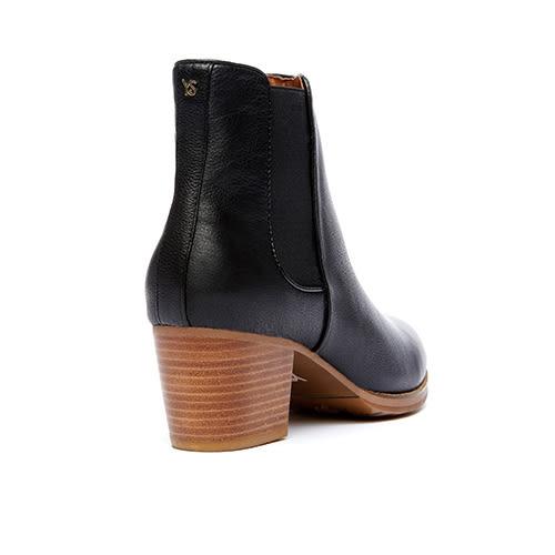 Yosi Samra 真皮短靴單色設計 黑色