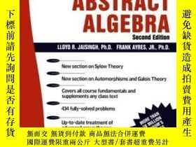 二手書博民逛書店Schaum s罕見Outline Of Abstract AlgebraY255562 Ayres, Fra