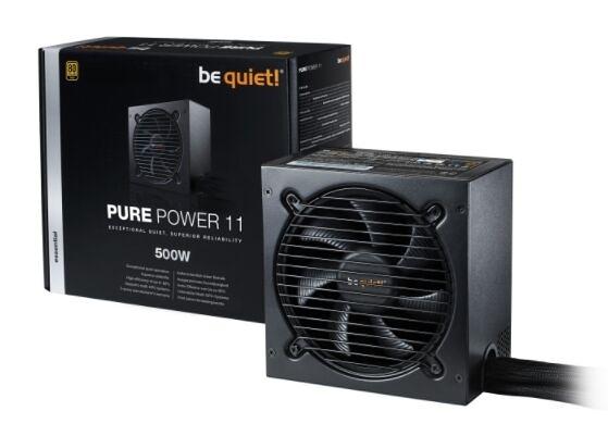 【Be quiet!】PURE POWER 11 500W 80+金牌 電源供應器【刷卡分期價】